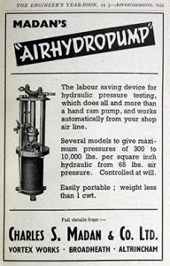 Madan AirHydroPump Advertisement 1943